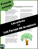 Science: Les forces: Article sur les arbres  *FRENCH*