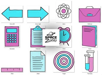 Science Lesson Images ( pink and blue)