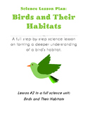 Science Lesson Plan - Understanding a Bird's Habitat