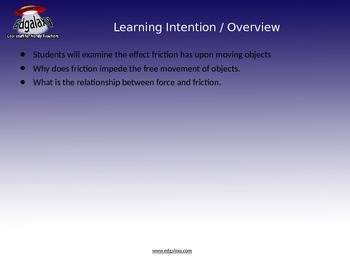 Science Lesson Plan about Friction