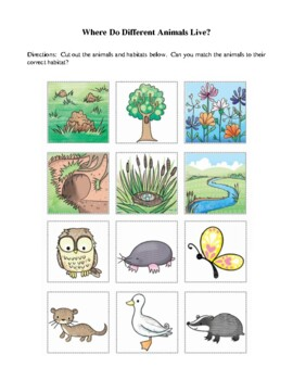 Science Lesson Plans - Animal Habitats