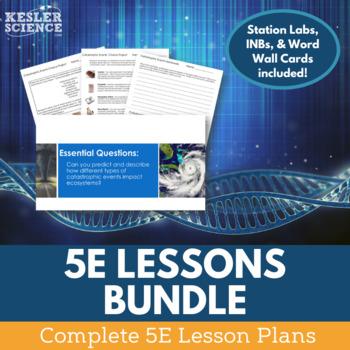 Science Lesson Plans Bundle - 100+ Complete 5E Model Lesson Plans
