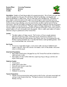 Science Lesson Plans - Growing Tomatoes, The Ant