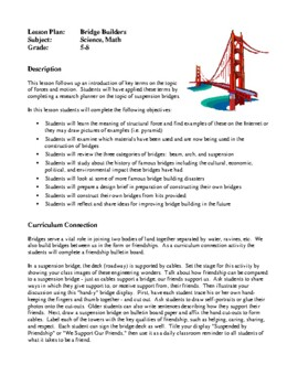 Science Lesson Plans - Science Fair Unit, Building Bridges
