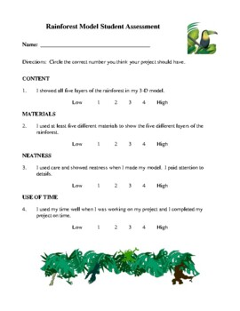 Science Lesson Plans - The Rainforest, The Schoolyard Safari
