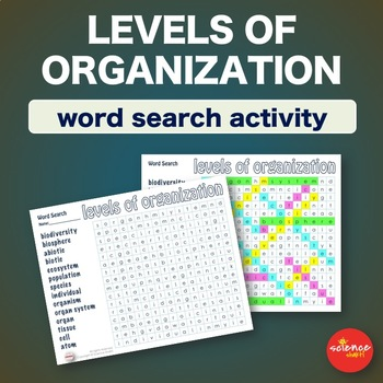 Science* Levels of Organization * WordSearch * Vocabulary * WarmUp * BellRinger