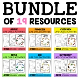 Science Life Cycle Activity Packs Bundle