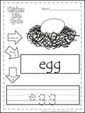 Science Life Cycle of a Chicken Color,Read,Trace preschool