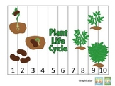 Science Life Cycle of a Plant Number Sequence Puzzle 1-10 preschool homeschool