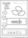 Science Life Cycle of a Pumpkin Color,Read,Trace preschool