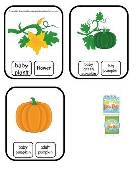 Science Life Cycle of a Pumpkin Word Clip it Cards preschool homeschool game.