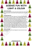 Science - Light & Colour - Detailed Lesson Plan (x2) for 4