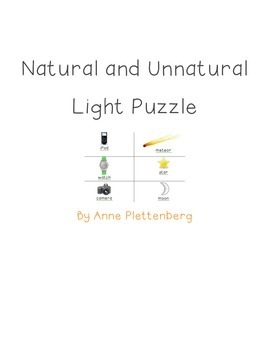 Science: Light - Natural and Unnatural Light Puzzle