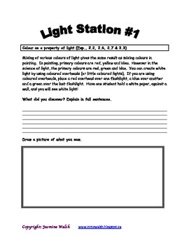Science Light Stations Cooperative Experiments in Groups