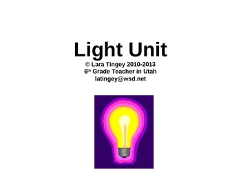 Science:  Light Energy Unit