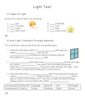 Science: Light - Unit Test