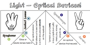 Science - Light and Shadows - Optical Devices Fortune Teller (Cootie Catcher)!!