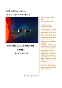 Science Literacy Activity #10 Can the Sun Change Its Spots?