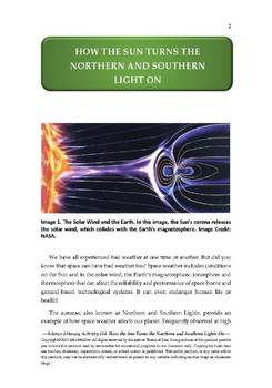 Science Literacy Activity #14 How Sun Turns the Northern and Southern Light On