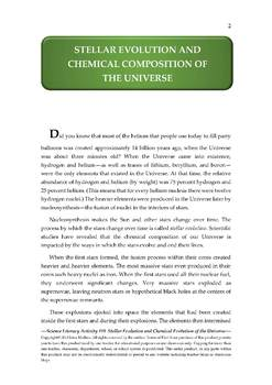 Science Literacy Activity #18 Stellar Evolution,Chemical Composition of Universe