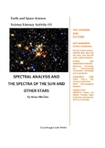 Science Literacy Activity #21 Spectral Analysis and the Sp