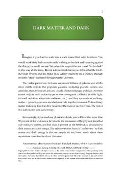 Science Literacy Activity #26 Dark Matter and Dark Energy