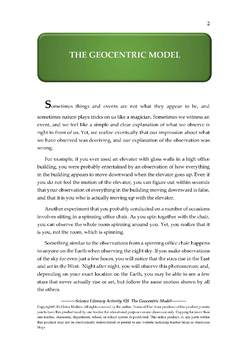 Science Literacy Activity #28 The Geocentric Model