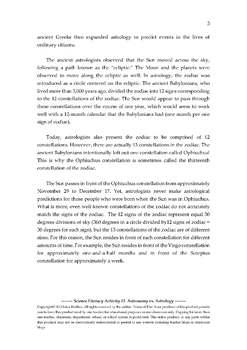 Science Literacy Activity #3 Astronomy vs. Astrology