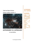 Science Literacy Activity #3 Astronomy vs. Astrology