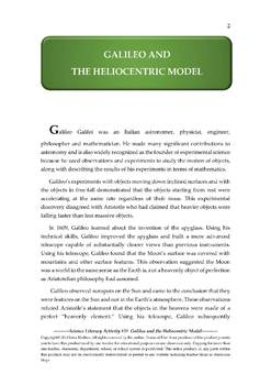 Science Literacy Activity #31 Galileo and the Heliocentric Model
