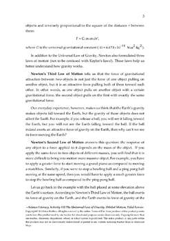 Science Literacy Activity #32 Universal Law of Gravity, Orbital Motion, Tides