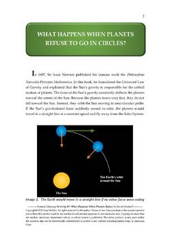 Science Literacy Activity #37 What Happens When Planets Refuse to Go in Circles