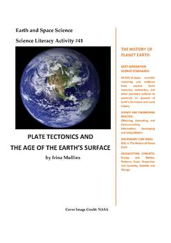 Science Literacy Activity #41 Plate Tectonics and the Age of the Earth's Surface