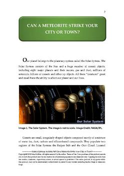 Science Literacy Activity #48 Can a Meteorite Strike Your City or Town?