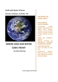 Science Literacy Activity #49 Where Does Our Water Come From?