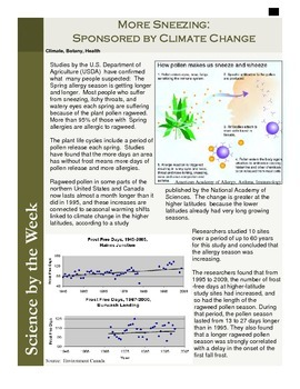 Science Literacy Articles:  Informational Texts!  Vol 3