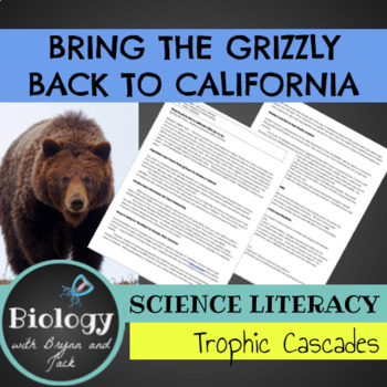 Science Literacy: Bring the Grizzly Back to California?