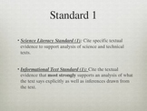 Science Literacy - Common Core Lesson Set