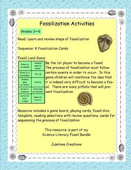 Science Literacy Fossil Bundle