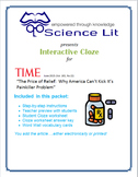 Science Literacy Interactive CLOZE: Pain Killer Addition