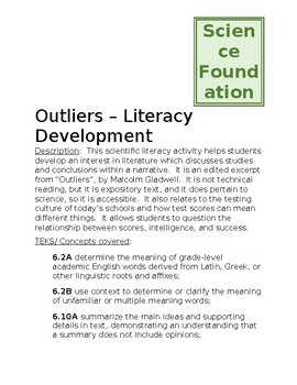 Science Literacy Outliers