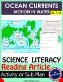 Science Literacy Reading Article:- OCEAN CURRENTS: MOTION IN WATER