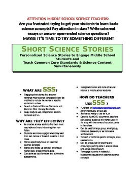 Science Literacy: SSS5 - Short Science Story - Inquiry Process, Glaciers, Peers