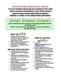 Science Literacy: SSS2 Storm Clouds - Short Science Storie