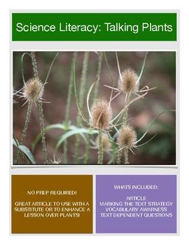 Science Literacy: Talking Plants