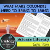 Science Literacy: What Mars Colonists Need to Bring: A Large Gene Pool