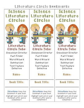 Science Literature Circles Pack