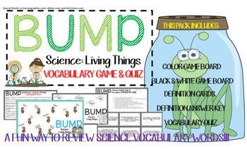 Living Things Vocabulary