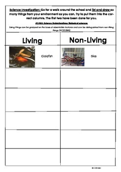 Science: Living and Non-Living Things