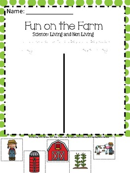 Science Living and Nonliving Things: Farm Edition